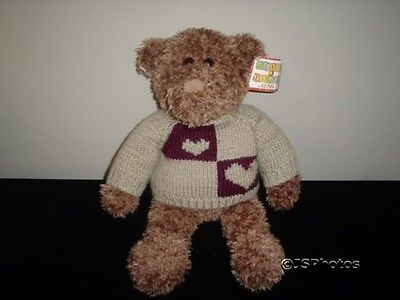Gund Heads & Tales Bear 16 Inch Knitted Sweater 40997