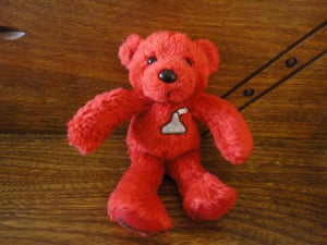 Hershey Kiss Red Plush Little TEDDY BEAR 1990s