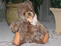 Antique Hermann Mohair Zotty Bear Brown 1960s IDS Very Rare