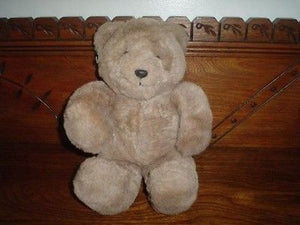 24K Caesar Brown Teddy Bear Plush 12 Inch 4136 Polar Puff Mighty Star 1989