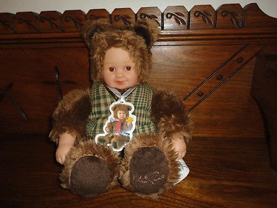Anne Geddes Doll Wearing Bear Outfit 11 inch Unimax Toys 2002