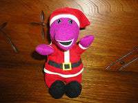 Barney Santa Doll with We Wish You a Merry Christmas Book 1999 Lyons