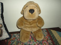 AG Carlton Cards Heartwarmers SHAR PEI DOG Plush 14 Inch Felt Nose