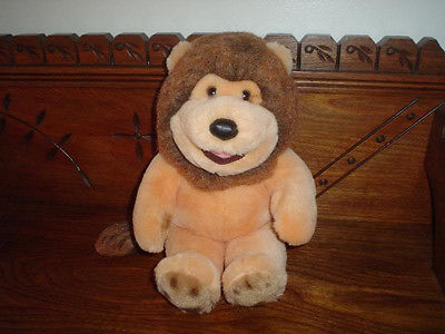 24K Barney the Lion Plush Orange 13 Inch 5601 Polar Puff Mighty Star 1991