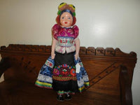 Budapest Hungary 1930's Antique Doll 17 inch Handmade Original Costume