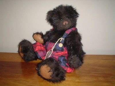 Ganz Webb Jointed Bear 16 Inch Cottage Collectibles Artist Christy Rave 1996 NEW