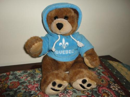 Quebec Canada Bear Snookie Stuffed Animal House Cuddlebears
