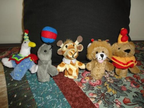 Circus Animals Set of 5 Finger Puppets