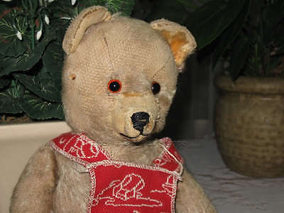 Antique Thuringia Germany Blonde Mohair Bear 1920s