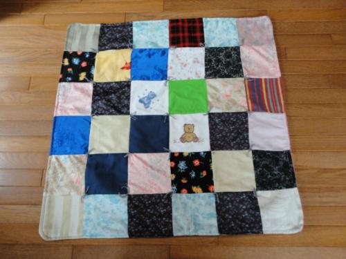 Handmade Vintage Flowered Patchwork QUILT Tapestry Flannel Cotton 31 x 31 inch