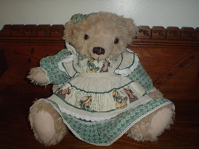 Anne of Green Gables Classic Jointed Teddy Bear Plush by Exquisite 16 inch RARE