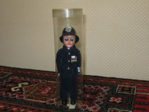 British Bobby Costume Souvenir Doll in Case
