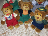 Pickwick Tea RARE Dutch BEAR FAMILY 5 Plush Toy Lot