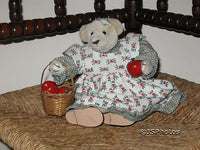 German Musical Bear Girl With Apple Basket