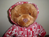 Aeropostale Annual Christmas Bear Wearing a Red Jacket 16 Inch ALL Tags 2007
