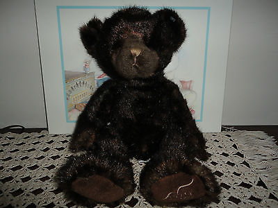 Russ Berrie 2008 Mary Kay Ash Charity Bear TOBEE Faux Mink Retired 14 inch