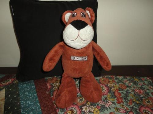 Hersheys COCOA BEAR Chocolate Brown Velvety Stuffed Toy 1998