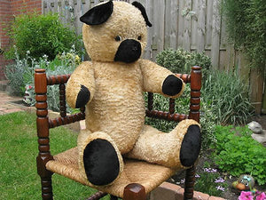 Antique 1930s Dutch 30 inch Van Gelden Growler Jointed Teddy Bear