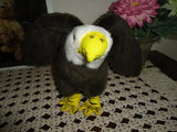 Bald Eagle Incredible Petables Stuffed Plush 8 inch Retired