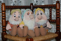 Snow White Plush 3 Dwarfs Doc Bashful Sneezy Merison Holland Rare