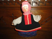 Vintage Handmade Europe Doll RARE Cardboard Body Moveable Puppet Head