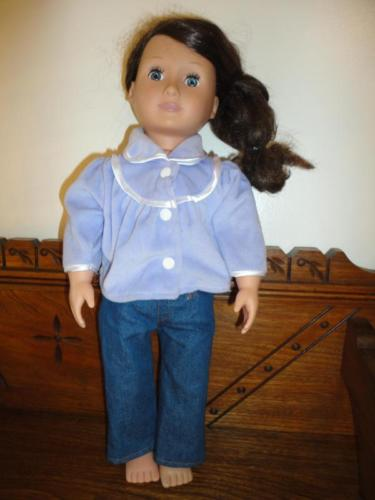 Battat Our Generation Doll Brunette Girl 19 inch Rubber Head Stuffed Body