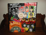 Beatles Tote Shopping Bag Vintage Albums Theme Woven Plastic NEW