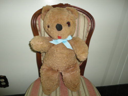 Antique Brown Teddy Tongue Bear Nickys Toy Toronto 21 Inch Original Tags Canada
