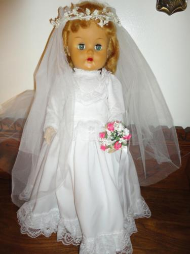 "Original 1950's Reliable Canada Bridal Doll 22"" Voice Box All Clothing Walking"