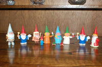 David The Gnome Set of 11 Rubber Toy Figures Religious St Nicholas