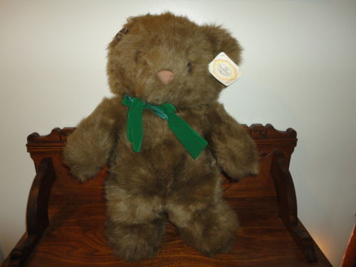 Ganz Heritage TIMOTHY Brown Bear Handcrafted Jumbo 23 inch 1990s Booklet Tag