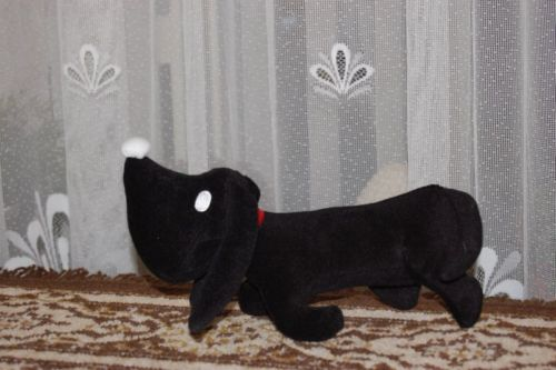 Jip & Janneke Takkie Black Dachshund Dog Plush RARE Famous Childrens Book Toy