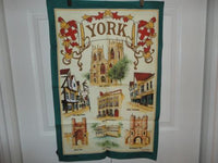 Vintage Made in Britain YORK  by Clive Mayor Pure All Cotton Cloth 30x20 Artwork