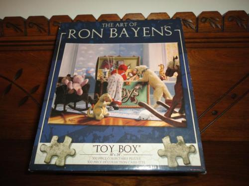 Canada Artist Ron Bayens Toy Box Jigsaw Puzzle 500pc 2004 Little Boy Bear Dog