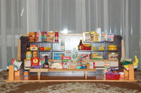 Old Vintage Dutch Wooden Grocery Store With 75 Miniature Accessories