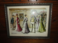 Anthony Gruerio Print Victorian County Fair Race Track Matted Framed Art