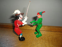 Vintage Marx Toys  Disney Peter Pan and Captain Hook Poseable 5