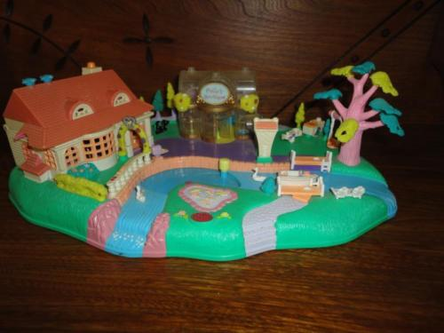 Polly Pocket Village Boutique House Park Playground Lake