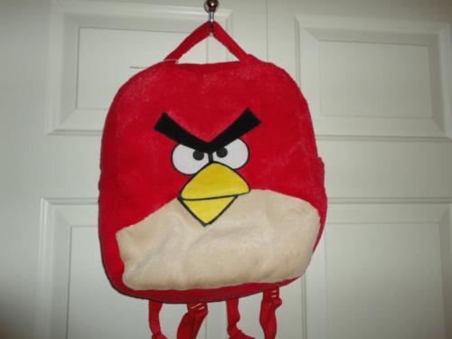 ANGRY BIRDS Backpack Carry Case Velvet Soft Furry Plush Commonwealth 2011