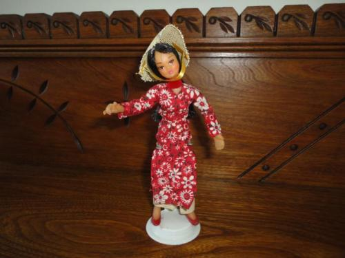 Antique Vintage Asian Chinese Lady Rubber Doll Figurine