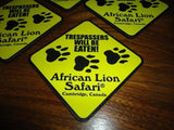 African Lion Safari Cambridge Canada Set 4 Cork Coasters Souvenir Collectible