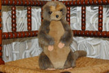 K&M Int USA Brown Gray Meerkat 11 Inch Stuffed Animal Plush 1994