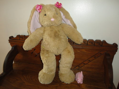 Canada Build a Bear BUNNY RABBIT Large 19 inch Handmade w Tags Fuzzy Rabbit Toy