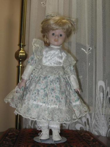 Vintage Porcelain Blonde Doll with Braids Juliette Europe 40 CM