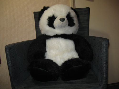 Jumbo Panda Bear Imported by Absolute For Dutch Market 29.5 Inch 1990's