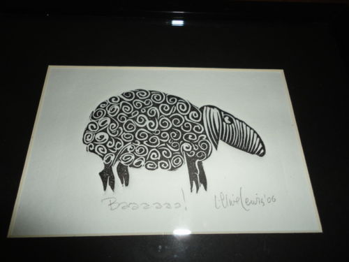 Canada Original Art Black Sheep Baaaaaa ! Signed L. Clive Lewis '06 RARE