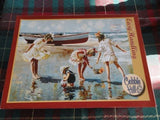 Cobble Hill Puzzle AT THE SEASIDE USA Artist Robert Sarsony 275 Easy Handle Pcs