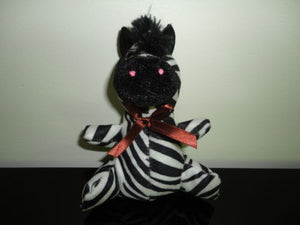 Fun Fair Midway Rare Fuzzy Cloth Zebra Stuffed Toy 6 inch Canada