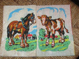 Antique 1960s Rare Lot of 2 Dean's Rag Books Playtime & My Animal  Deans UK