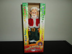 Dancing Singing Musical Rubber SANTA CLAUS Vintage Innervation China Boxed T138